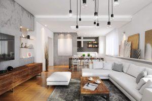 Como acertar na construção e decoração da sala de dois ambientes?